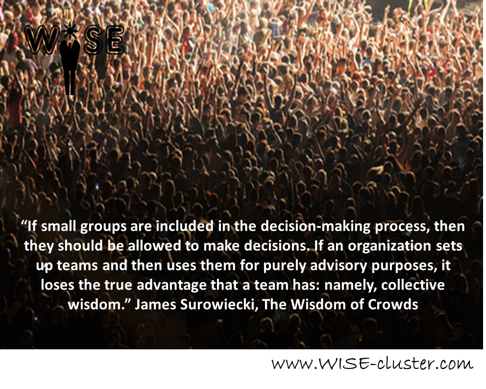 Wisdom of Crowds Crowdsourcing consulting wise cluster